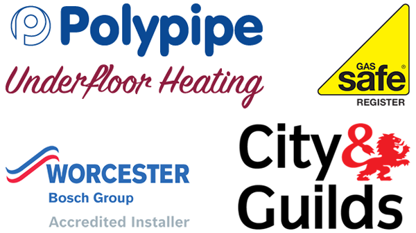 Polypipe Underfloor Heating, Worcester Bosch Approved Installer, Gas Safe Registered, City & Guilds