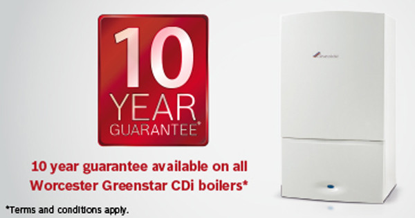 Boilers with up to a ten year warranty
